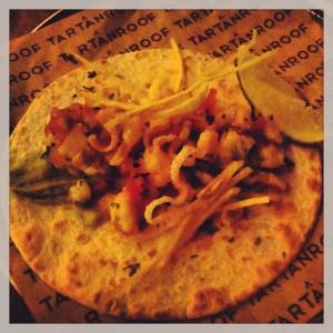 Gastroeconomy_Azotea del Circulo_TartanRoof1_Taco Langostinos